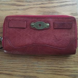 Lucky Brand red leather wallet